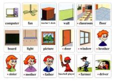 PEP人教版小学英语单词四年级上册卡片(可直接打印)