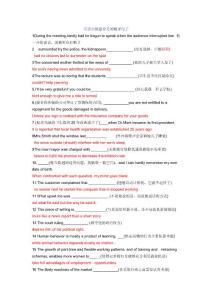 英语六级最常考的翻译句子