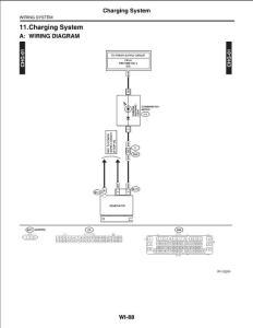 斯巴鲁 傲虎 力狮 布线系统 充电系统