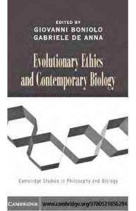 Evolutionary Ethics and..