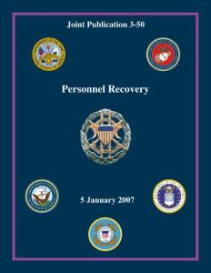 JP 3-50  Personnel Recovery