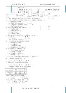 四川省绵阳南山中学2011-2..