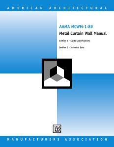 AAMA MCWM-1-89 Metal Curtain Wall Manual