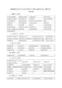 新疆师范大学人文社会科学中文核心期刊目录(517种) (2008年版) 一