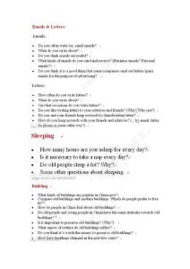 2013年7-9月雅思哥口语预测PART1题目