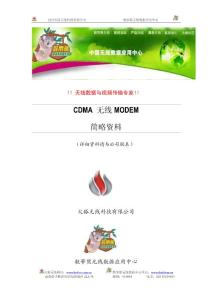 CDMA 无线MODEM