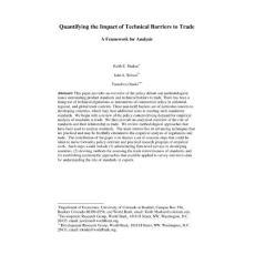 技术性贸易壁垒的数理分析..