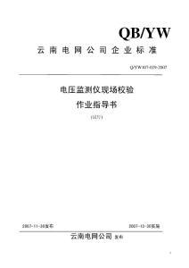 电压监测仪校验作业指导书
