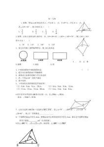 初二几何复习题
