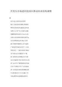 【doc】兴龙头市场建科技园..