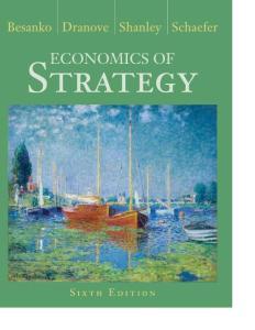 Economics of Strategy  6th Edition