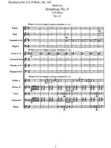 贝多芬 作品125 d小调第九交响乐 总谱 Beethoven-Symphony No.9 in D Minor Op.125 乐谱