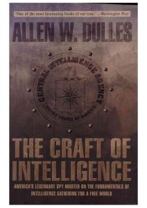 Allen W Dulles - The Craft of Intelligence