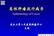腫瘤流行病學課件2013