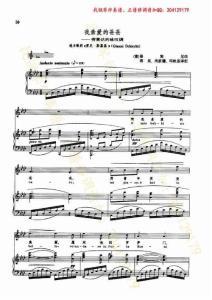 我亲爱的爸爸 普契尼 钢琴伴奏谱