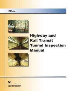 美国公路与轨道交通隧道检测手册Highway and Rail Transit Tunnel Inspection Manual
