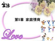 第5章家庭情商(恋爱情商和婚姻情商)[教学]