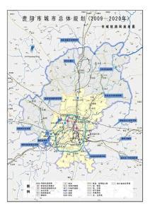 贵阳市城市总体规划(2009-2020)—市域铁路网规划图