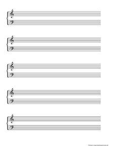 空白五线谱(钢琴谱) 打印版 免费下载