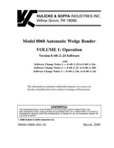 8060 Manuel Volume 1