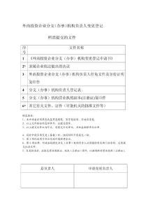 外商投资企业分支(干事..