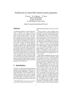 verification of control flow based security properties90242