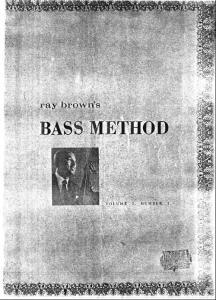 电子书 Bass Books-Ray Brown - Bass Method
